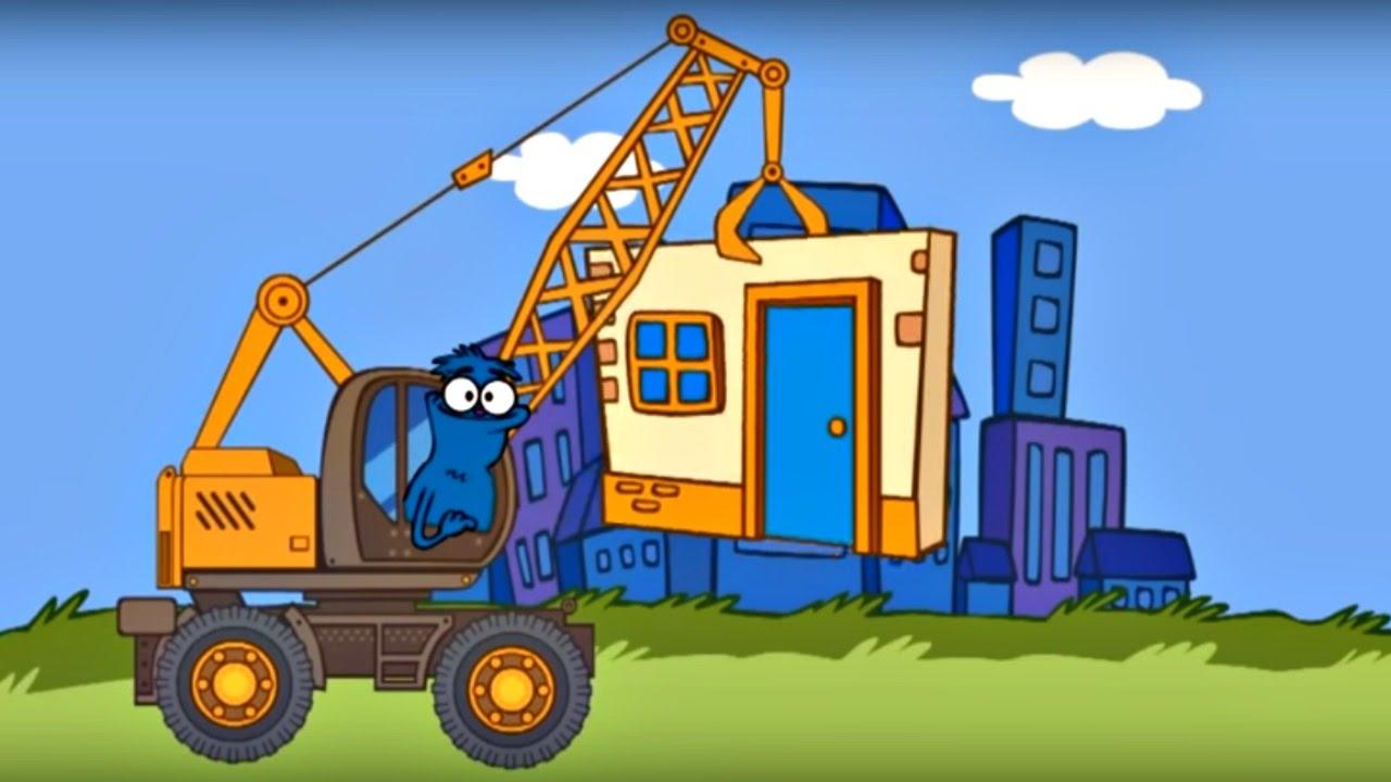 Edi Blue bir ev yapmak istiyor Eğitici çizgi film Bulmaca oyunu