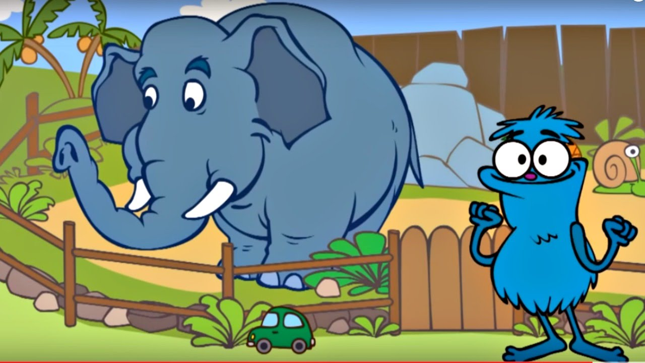 Edi Blue hayvanat bahçesinde – Eğitici çizgi film – Bulmaca oyunu