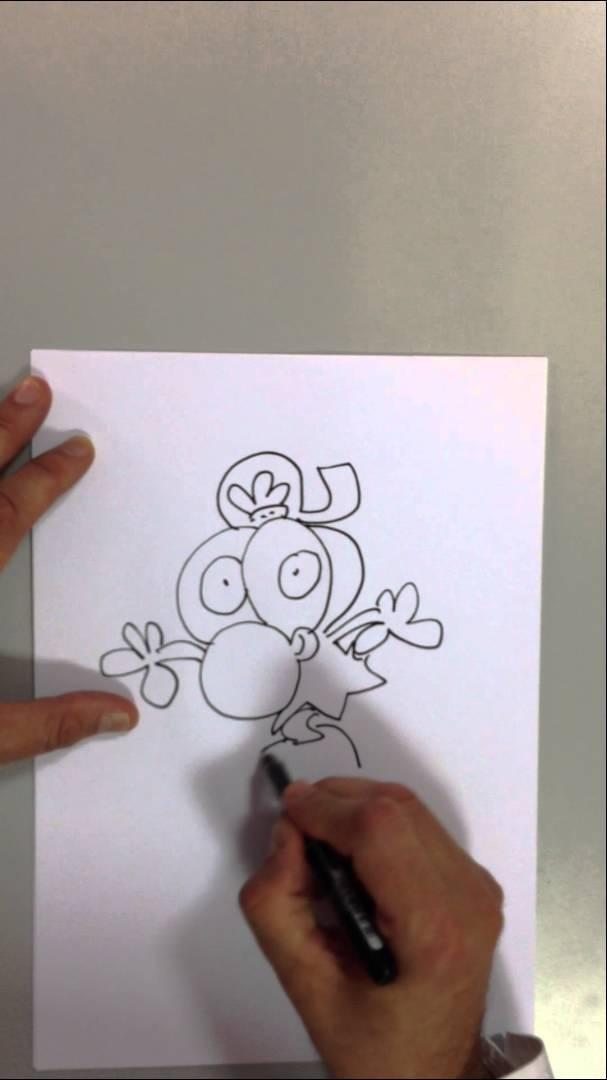 Kaykaycı Zeytin'i çizmeyi öğreniyoruz – Limon ile Zeytin karikatürü nasıl çizilir.