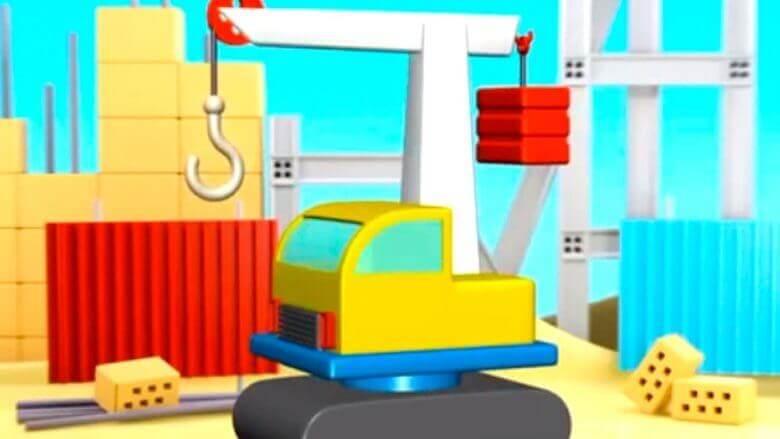 Çizgi film – Kule vinç Build and Play – Crane