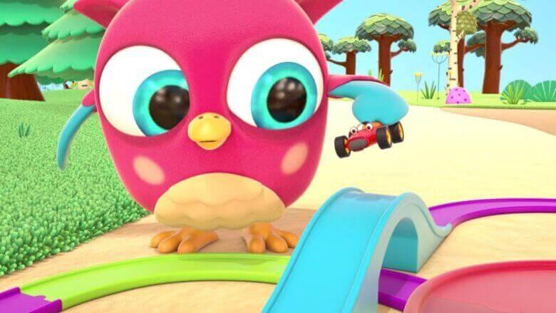 Çizgi film Hop Hop baykuş! Arabalar için pisti yapalım! Çocuklar için eğitici dizi