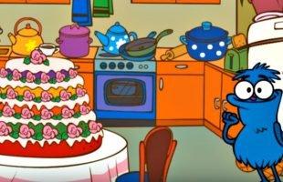 Edi Blue bir pasta yapmak istiyor – Eğitici çizgi film – Bulmaca oyunu